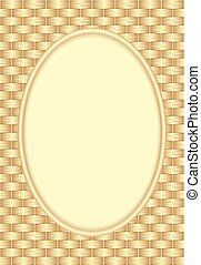 wicker background with oval frame