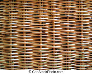 Wicker basket. Background.