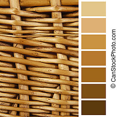 wicker basket color complimentary chart selection