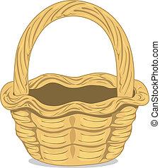 Wicker basket illustration - Detailed illustration of a...