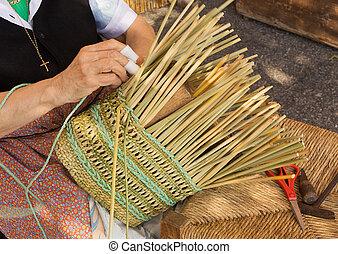 wicker basket making