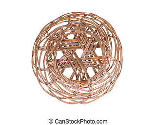 wicker basket on a white background
