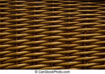 Wicker Basket - Weaved wicker texture