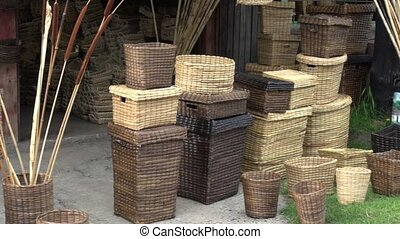 Wicker Baskets, Arts & Crafts, Containers