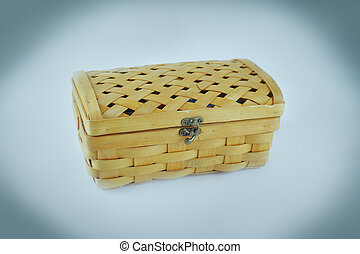 wicker box. isolated on a white background.