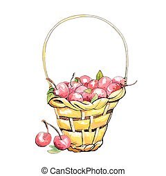 Wicker cherry basket