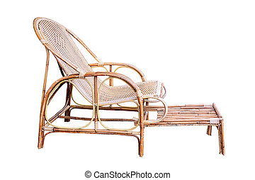 Wicker comfortable chair.