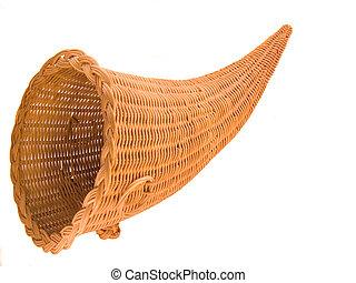 Wicker Cornucopia Basket