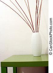 wicker decoration - wicker inside a jar in a interiors image