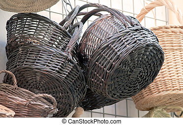 Wicker handicrafts - Several objects made wicker handicrafts...