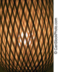 wicker lamp shade, background, close-up