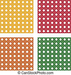 Wicker pattern - wicker pattern four different colours