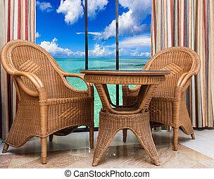 rattan furniture interior room