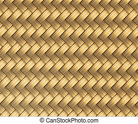 Wicker Seamless Pattern Vector