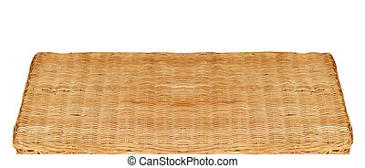 wicker table isolated