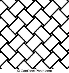 Wicker texture, seamless geometric pattern. Vector...