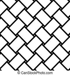 Wicker texture, seamless geometric pattern. Vector background