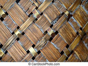Wicker wood background - Texture of old wicker birch basket...