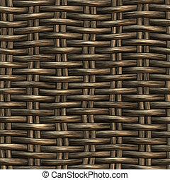 wicker work pattern - seamless 3d texture of brown...