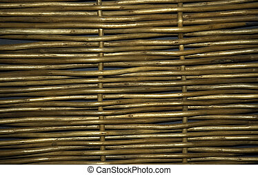 Wickerwork - A piece of willow wickerwork