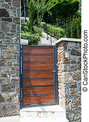 wicket - solid gate in a stone fence