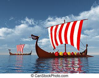 wickinger, schiffe