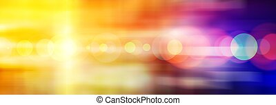Wide abstract colored background with flare from bright...