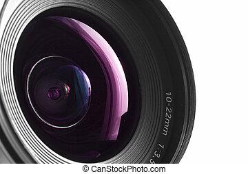 Wide angle - A close-up of a wide angle camera lens