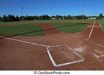 Wide Angle Baseball Field