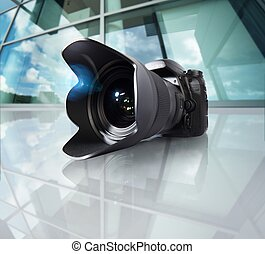 Wide angle camera - Image of camera with wide angle lens