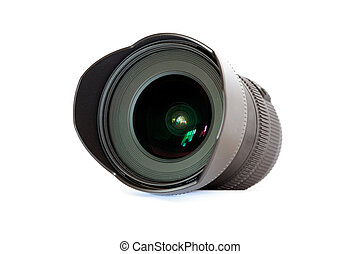 Wide-angle lens isolated on white background