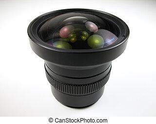 Macro shot of a wide angle lens used on a digital camera