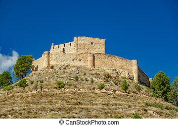 Jalance castle over hill - Wide angle shot of Jalance castle...