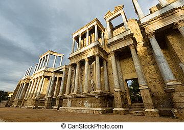 Wide angle shot of Roman Theatre