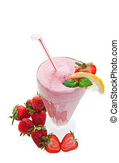 Wide angle smoothie - A wide angle top view of a smoothie...