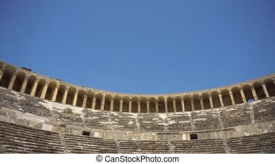 Wide angle view of ancient amphitheatre - Beautiful wide...