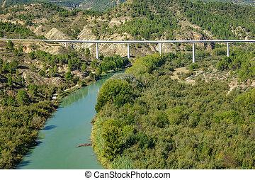 Cabriel river and bridge