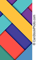 Wide Background Unusual modern material design. Modern shades and style. Vector Illustration.