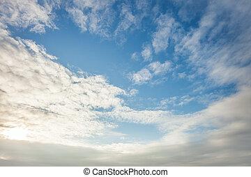 wide blue sky