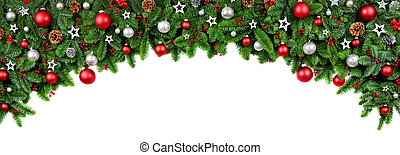 Wide bow shaped Christmas border