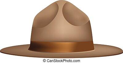 Wide-brimmed hat Ranger - The uniform wide-brimmed hat of...