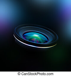 Wide DSLR lens - Close up image of a wide DSLR lens
