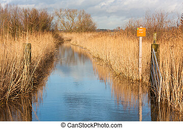 Wide Entrance to a bird nesting reserve in the floodplains...