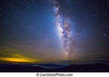 Milky Way - Wide field long exposure photo of the Milky Way.