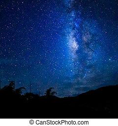Milky Way - Wide field long exposure photo of the Milky Way