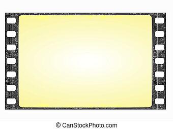 wide film frame - vector