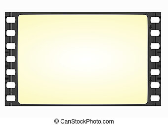 wide film frame - vector - Old widescreen film frame in ...