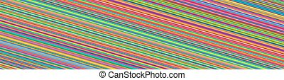 Wide, horizontal lines, stripes, streaks and strips. ...