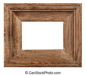 wide oak wood picture frame