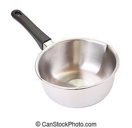 Wide of black handle pot